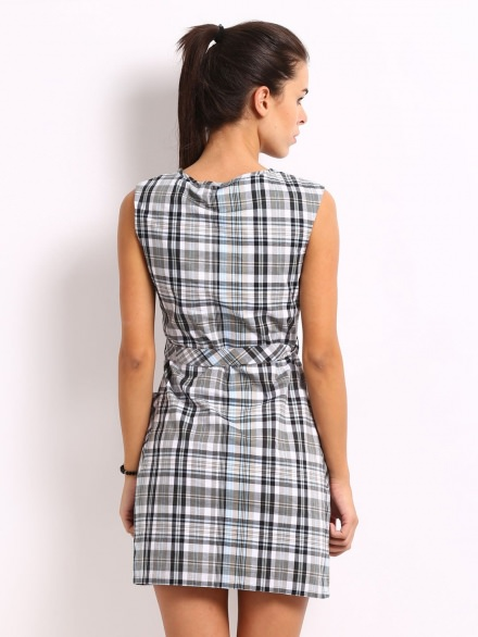 Checked Short Dress